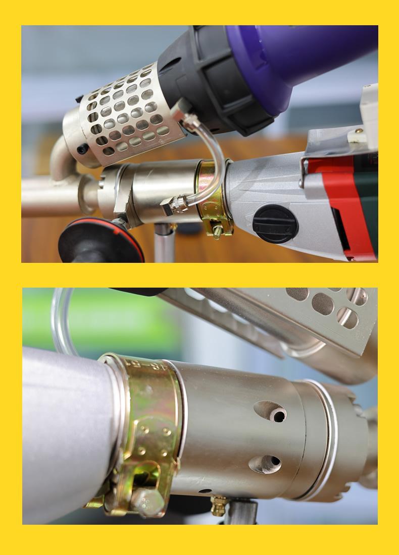 塑料擠出式焊槍PE/PP/PVC手提式熱風熱熔塑料焊機WP40H焊槍3400W 5