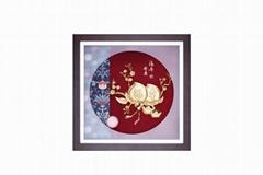 福壽安康-立體金箔家居裝飾畫