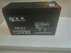 圣阳蓄电池SSP12-8 12V8AH UPS EPS电源机房电梯免维护铅酸蓄电池
