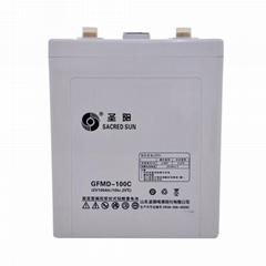 圣阳2V100AH蓄电池铅酸免维护GFMD-100C储能型UPS电源直流屏