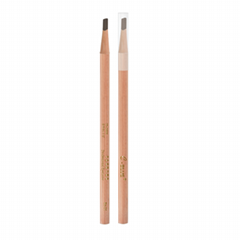 wooden square eyebrow pencil beauty Pen sweat proof cosmetic hard lead old fashi