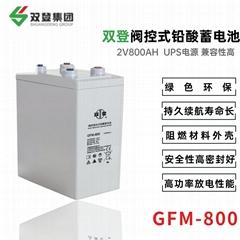 双登GFM-800 2V800AH铅酸免维护 阀控式蓄电池通讯系统电源