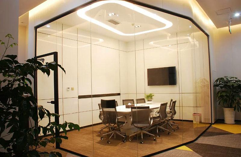 苏州办公室玻璃隔断-百叶玻璃隔断-全景玻璃隔断 1