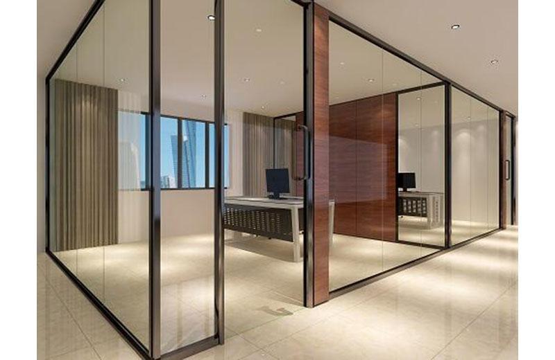 苏州办公室玻璃隔断-百叶玻璃隔断-全景玻璃隔断 2