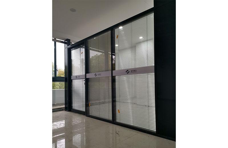 苏州办公室玻璃隔断-百叶玻璃隔断-全景玻璃隔断 4