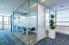 無錫辦公室玻璃隔斷-無錫百葉玻璃隔斷