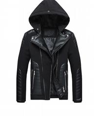 Men's cotton-padded jacket men's cross-border 2021 new fur collar detachable hoo