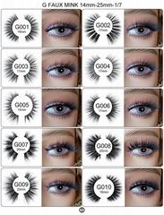 Faux Mink Eyelashes 10mm-30mm, Soft