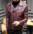 Men's leather jacket 2018 autumn Korean