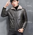 Haining leather leather jacket men's fur