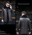 Explosive style playboy leather jacket male middle-aged father dress father gras 1