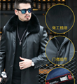 Explosive style playboy leather jacket male middle-aged father dress father gras 4