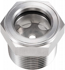"""1""""-11.5 NPT Hex Head Stainless Steel Oil Sight Glass"""