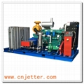 High Pressure Water Jet Cleaning Heat Exchanger