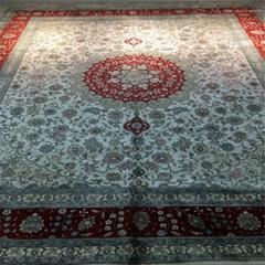 藝繡科技展銷手工真絲東方圖案地毯