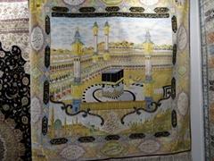 """麥加朝聖7X7ft真絲挂毯-藝繡生產的""""宗教之都"""""""