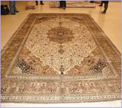 艺锈生产大形手工真丝地毯,专用责宾接待厅的布局