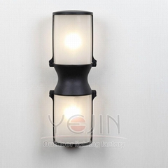 clear frosted glass shades wall light     outdoor viewing light