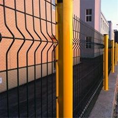 桃形柱防护网,桃形柱隔离网,桃形柱围栏网