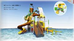湖南戶外大型水上樂園儿童玩具滑梯組合