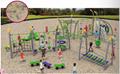 湖南戶外大型儿童公園小區體能拓展訓練攀爬架滑梯組合 1