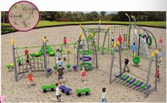 湖南戶外大型儿童公園小區體能拓展訓練攀爬架滑梯組合