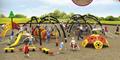 湖南戶外大型儿童公園小區體能拓展訓練攀爬架滑梯組合 2