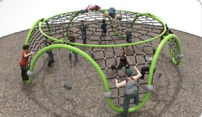 湖南戶外大型儿童公園小區體能拓展訓練攀爬架滑梯組合 5