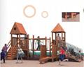 湖南戶外大型儿童玩具木質滑滑梯組合 1