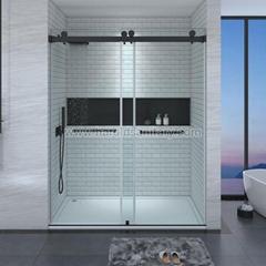 Bypass Double Slider Doors Glass Shower Enclosure