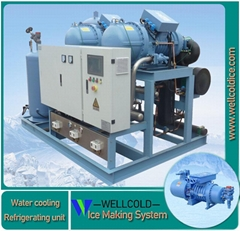 Refrigerating units for ice maker machine and water chiller ice room