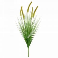 树猫仿真植物盆栽盆景5头狗尾草仿真芦苇草家居装饰假花摆件出口