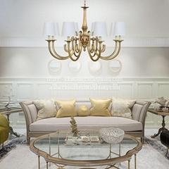 Brushed Brass Pendant Lamp Mid Century Modern Chandelier Lighting Gold Sputnik C