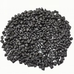 PVC black particles particles recycled raw PVC plastic particles