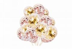 12 inch gold confetti balloons