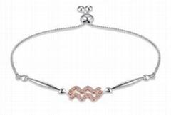 2021 Charm Jewelry, micro inlaid Bracelet Light Luxury Zircon Bracelet for Women