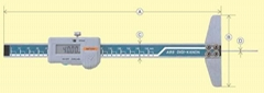 日本KANON中村数显细孔深度卡尺E  E-TH15B E-TH20B E-TH30B