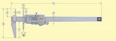 日本KANON中村數顯孔距卡尺E-RM-S15B
