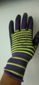 13G polyester latex crinked palm safety gloves 4