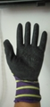 13G polyester latex crinked palm safety gloves 5