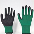 13G polyester latex crinked palm safety
