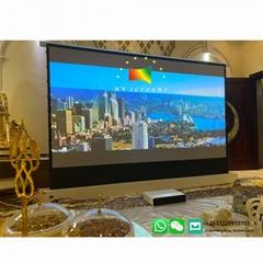 xy screen best pvc ust 120 inch  motorized  floor rising projector alr screen