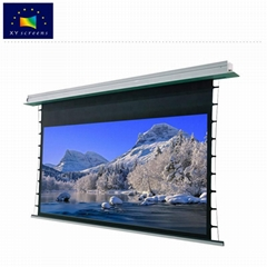 Ceiling mount pull down motorized projection screen 4k home Electric  screen