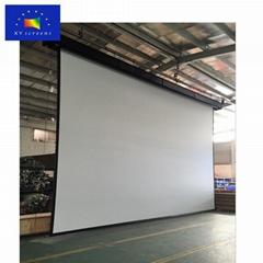 indoor /outdoor presentation big size Large tube motor powered projector screen