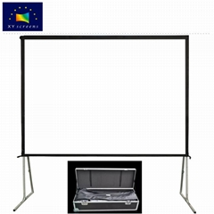 Portable large outdoor fast fold movie screen for HD/ 4K projector