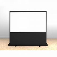 XY screen new floor rising manual projector screen