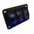 12-24V Radium Carving Pattern 3 Rocker Switch Panel 3