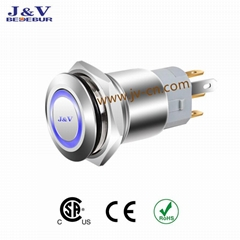 12Mm 16Mm 19Mm 22Mm 25Mm 30Mm Round Waterproof IP67 Metal Push Button Momentary