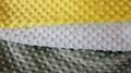 100% Polyester Embossed Bubble Double Side Fleece Flannel Knitting Garment Fabri
