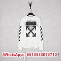 OFF white Men's stretch knitted round neck sweater trousers long sleeves Top1:1  15